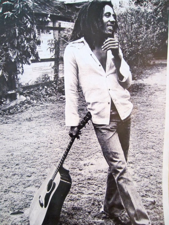 Bob Marley Guitar Poster