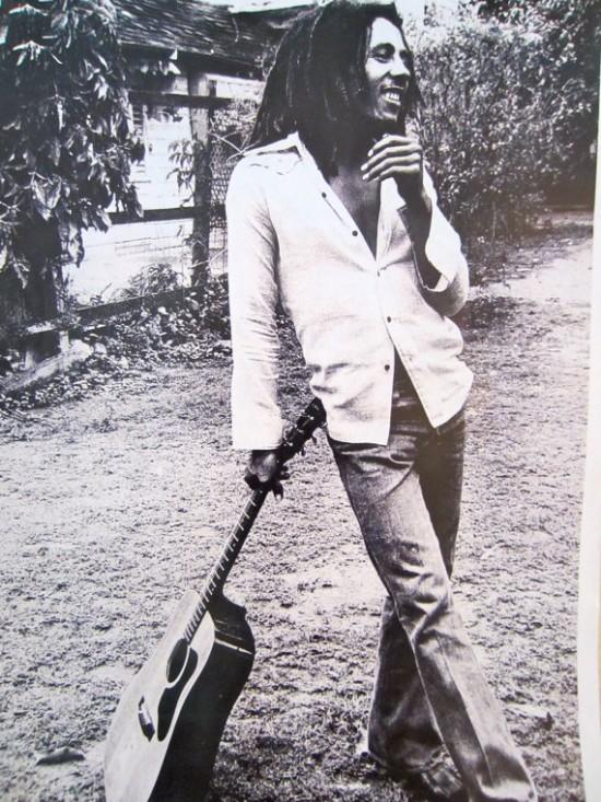 Bob Marley Guitar Poster